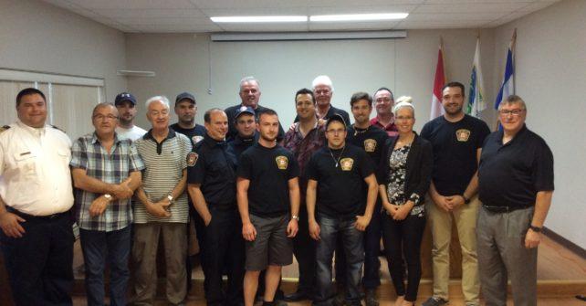 Remise de diplômes des pompiers